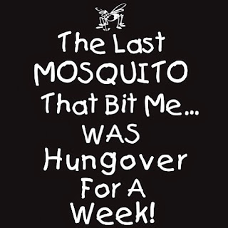 The last mosquito that bit me was hungover for a week shirt