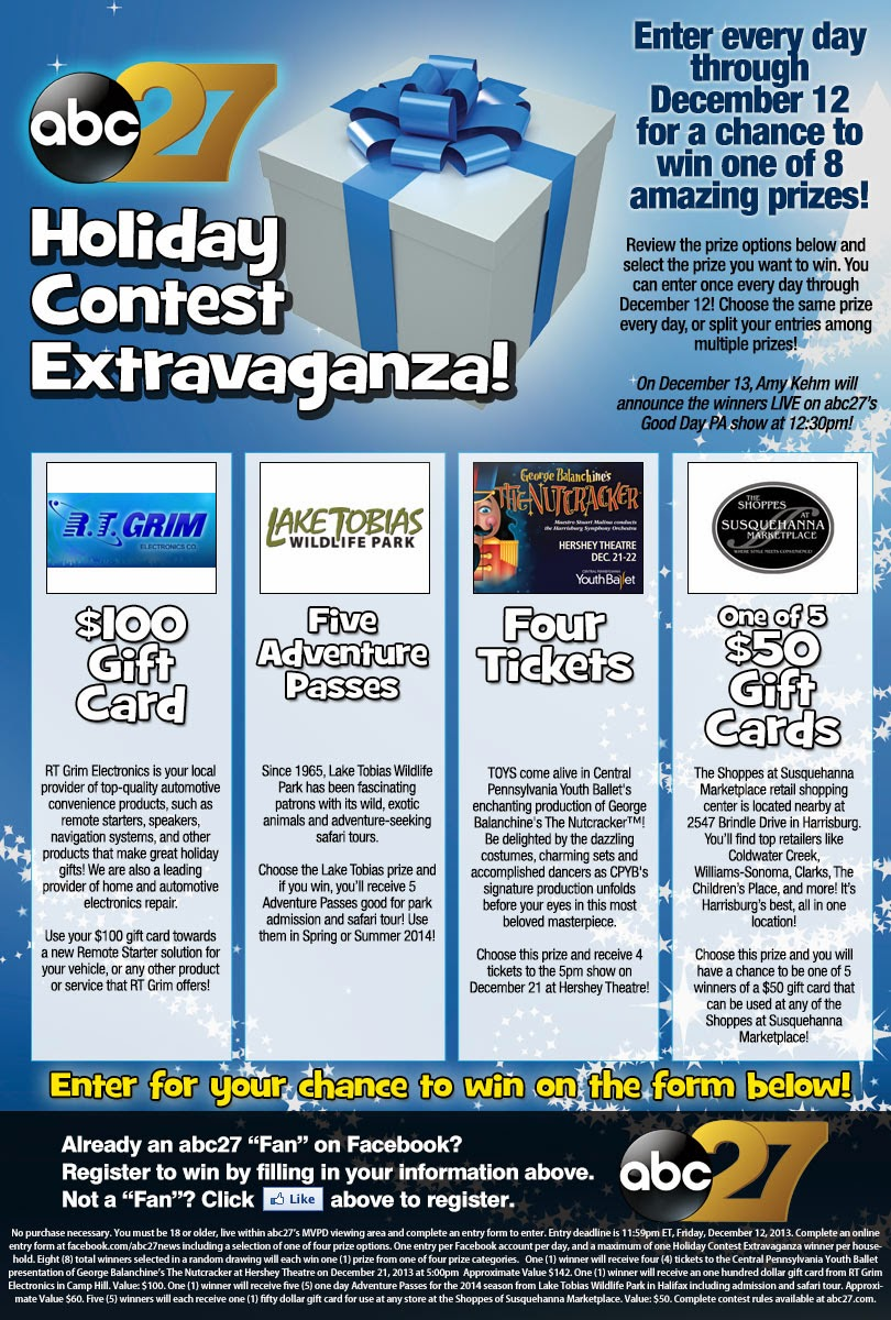 ABC 27 Holiday Contest Extravaganza