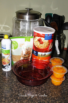 Super Easy Peach Crisp ingredients