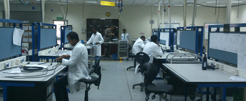 First Trainees on Wire Harness fabrication with the Boeing trainers and ET Management