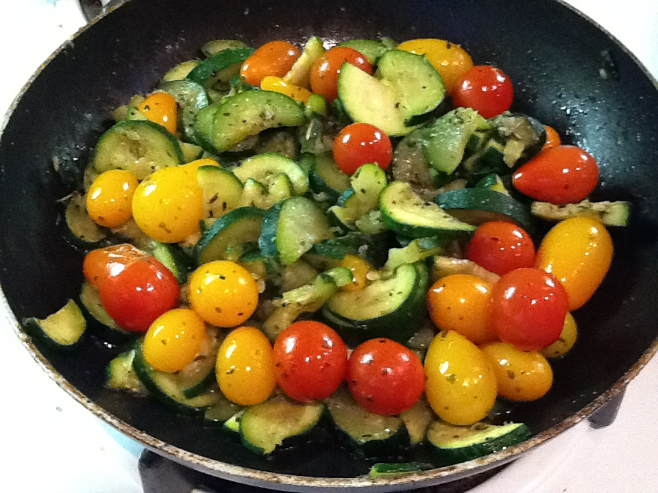 sauteed zucchini and tomatoes 4 medium zucchinis chopped 2 cups