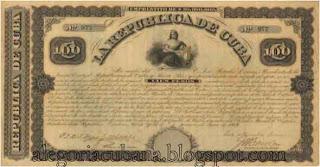 La primera alegoría en billetes cubanos  1869+billete+100+pesos