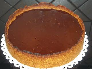 ... crostata di ricotta con glassa al cioccolato ...