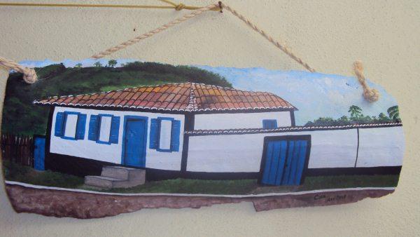 Casa da roça, Pintura Acrílica sobre Telha