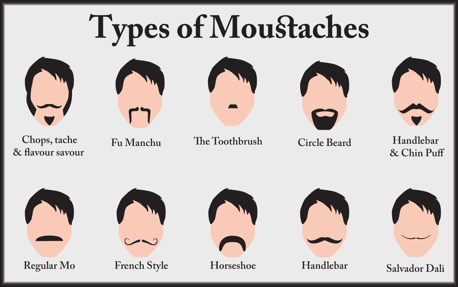 Names Of Different Mustaches Beard Related Keywords