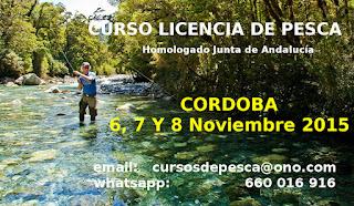 Curso Licencia Pesca Andalucía