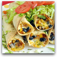 Vegetarian Black Bean and Sweet Potato Flautas