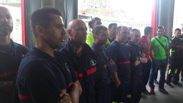 bomberos en las jornadas de Béjar