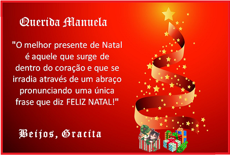 Feliz Natal, querida Gracita!
