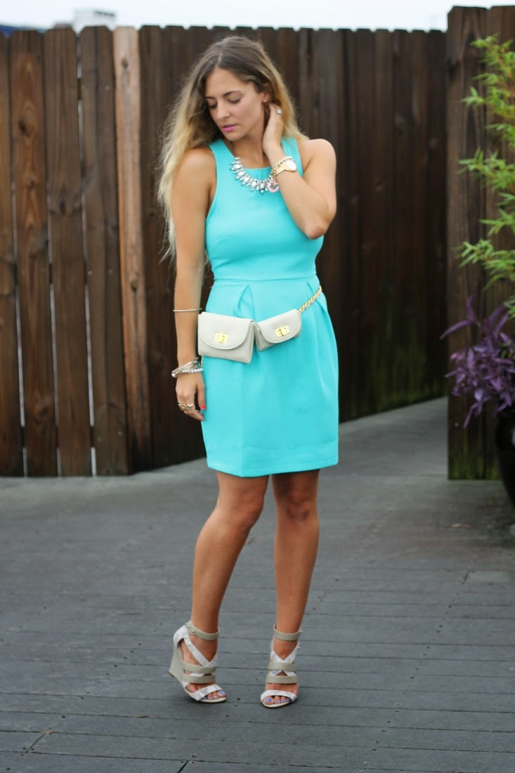 LuLu's Let's Party Turquoise Dress
