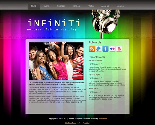 Infiniti - Free Wordpress Theme