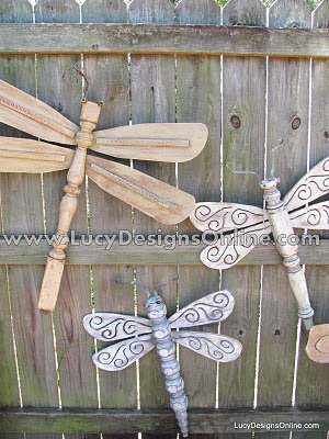 Be Different Act Normal Repurposed Table Leg Dragonflies