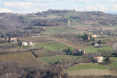 View from Mondovì Piazza Toward Cascina Bringin
