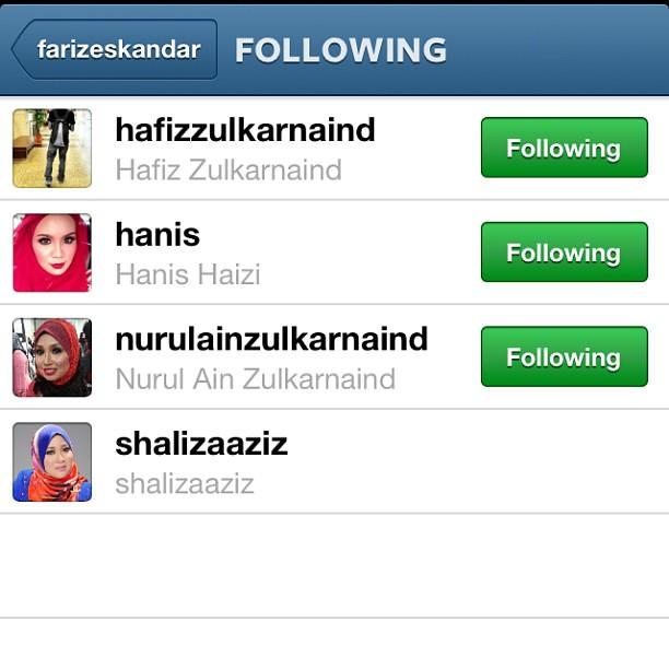 instagram, hanis haizi, shaliza aziz