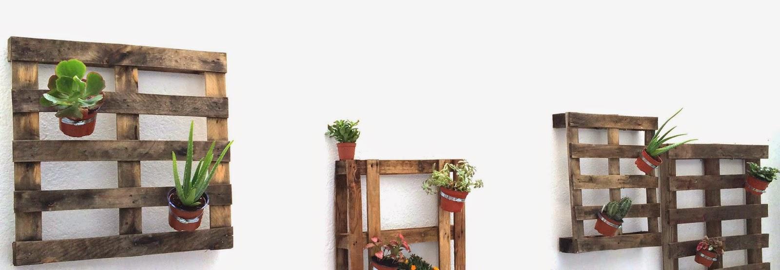 pared vegetal y pallets miuniversodiy