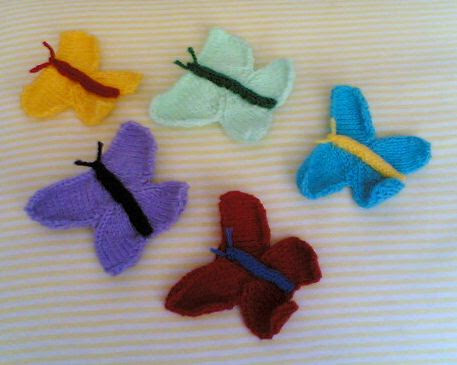 Knitting Galore: Knitted Butterfly Motif - Tutorial