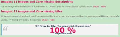Info Blog, seo score
