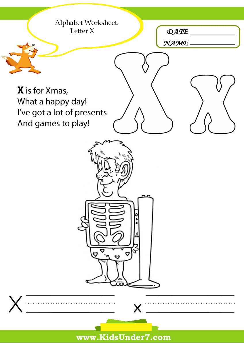 Letter X Tracing Worksheets Alphabet worksheets for