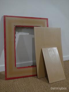cadre dentelle de carton