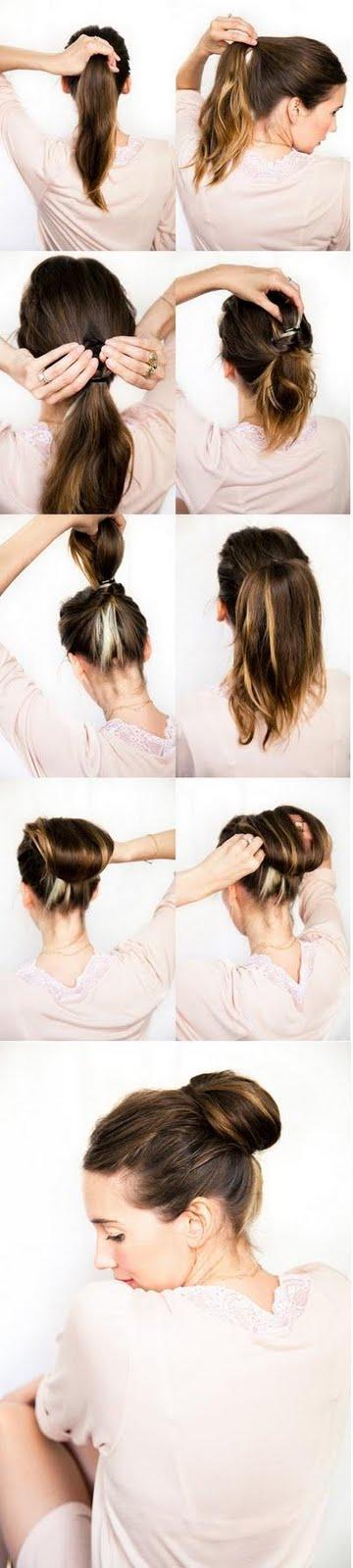 Doing Your Own Wedding Hair : Chestnut Bun Wedding Hairstyle Dark Brown Hairs