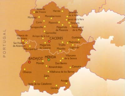 Badajoz mapa