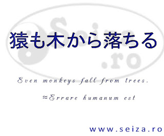 japanese proverb: Even monkeys fall out the trees
