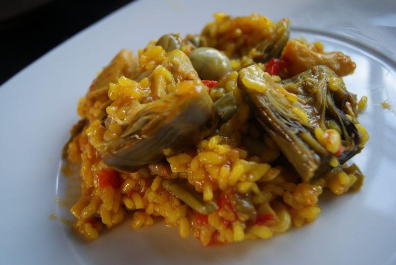 Arroz con alcachofas habas y trigueros cocina y amigos - Arroz con alcachofas y jamon ...