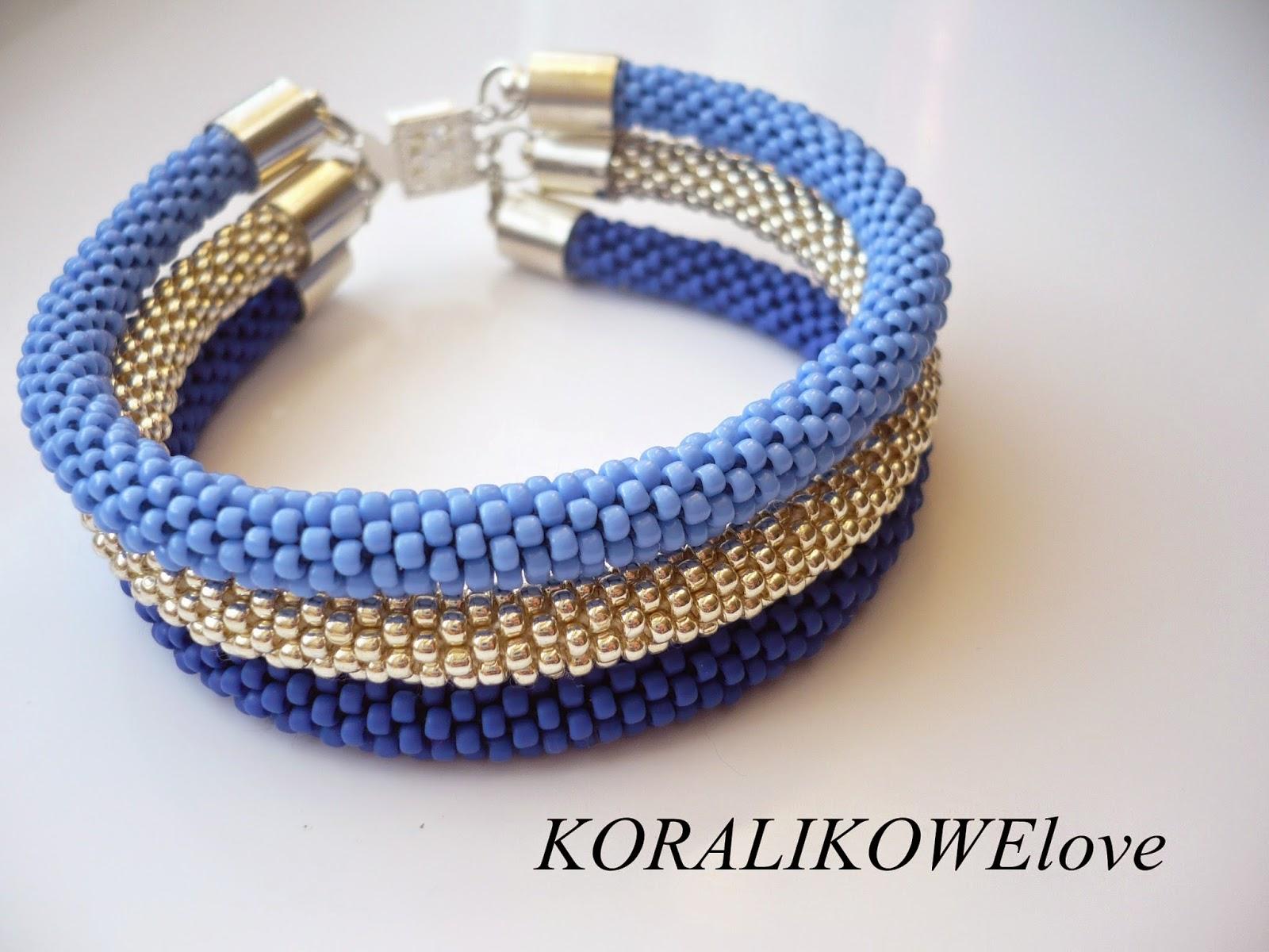 bransoletka z koralików,sznur szydełkowo koralikowy