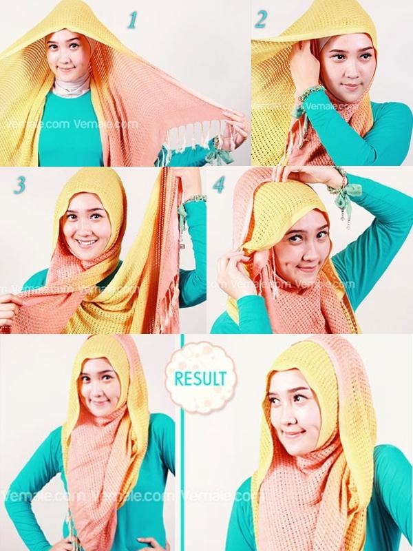 Video Cara Memakai Hijab Pashmina Simple