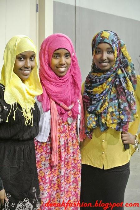 Gaya Jilbab Untuk Kulit Hitam Black Chic