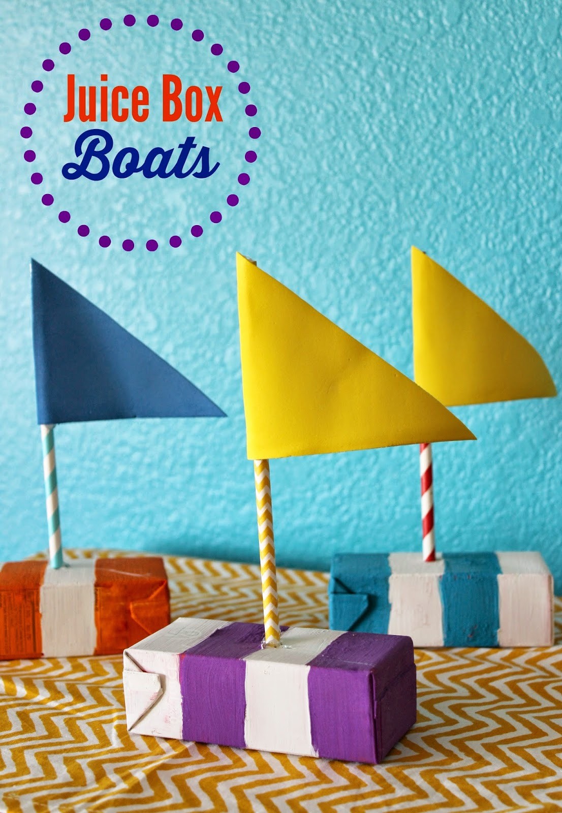 DIY Juice Box Boats for Summer time FUN!! Fabulous summer activity for kids.
