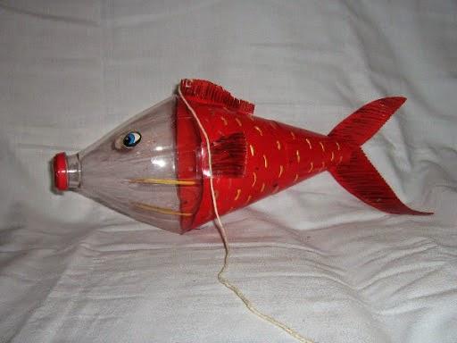 Как из бутылки сделать рыбку