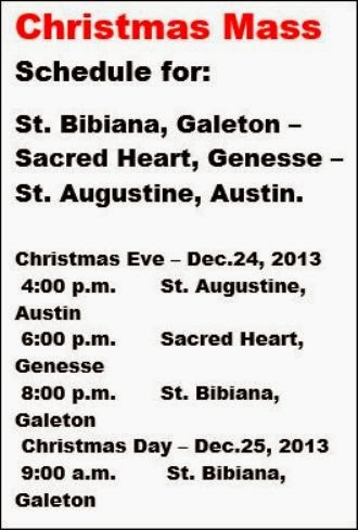 12-24/25 Christmas Mass Schedule