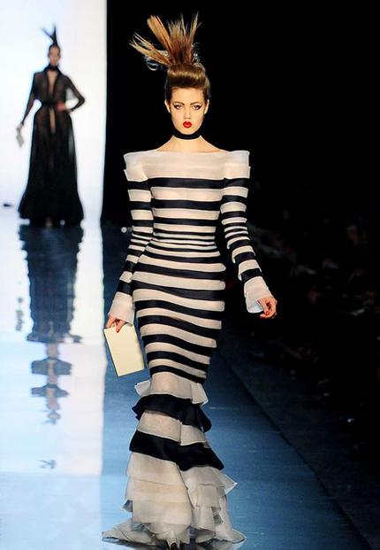 meilleur blog robe robe longue mariniere jean paul gaultier. Black Bedroom Furniture Sets. Home Design Ideas