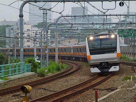 中央線 快速 箱根ヶ崎・武蔵五日市行き E233系(平日1本運行)