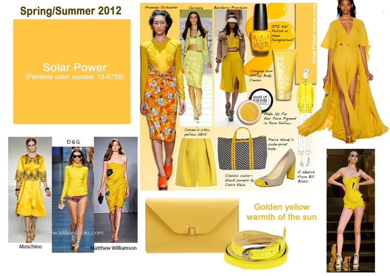 The late show with gretchen pantone colour spring 2012 - Which colour goes with yellow ...