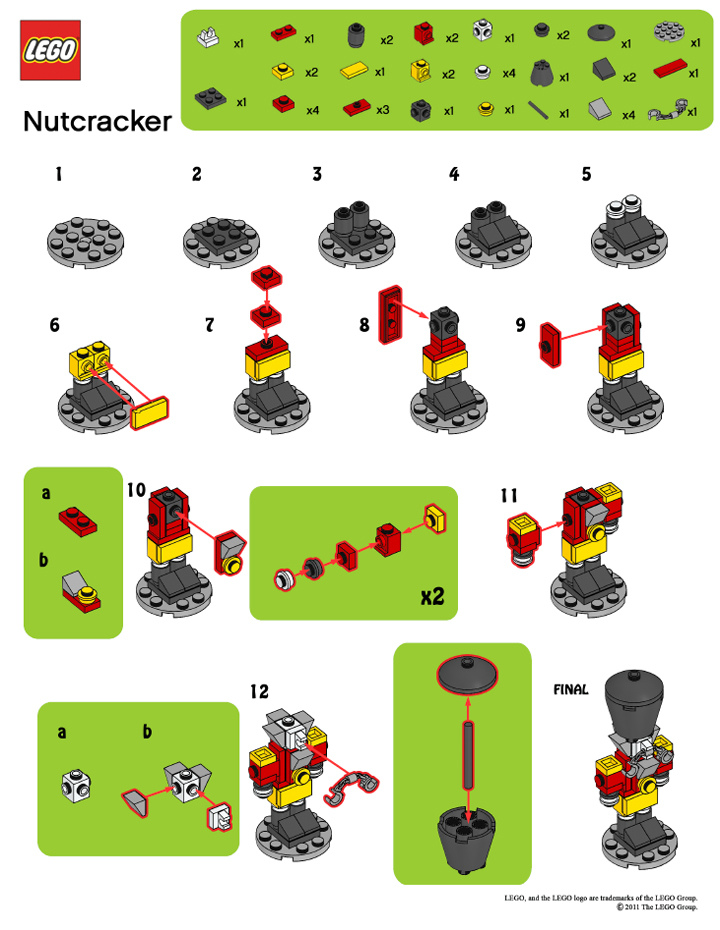 Legomymamma Lego Nutcracker Building Instructions