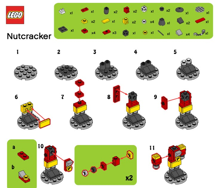 Legomymamma Lego Nutcracker Building Instructions