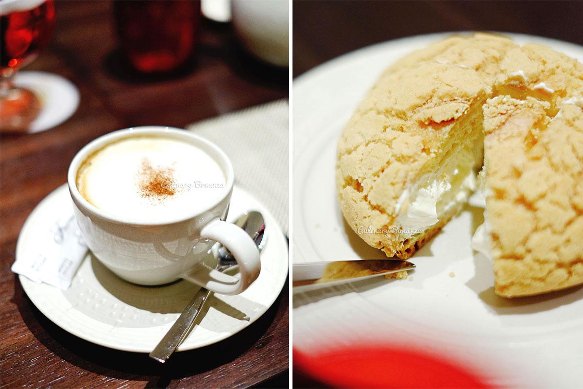 Cappuccino and Zeppole at Sapori Deli, Fairmont Jakarta (www.culinarybonanza.com)