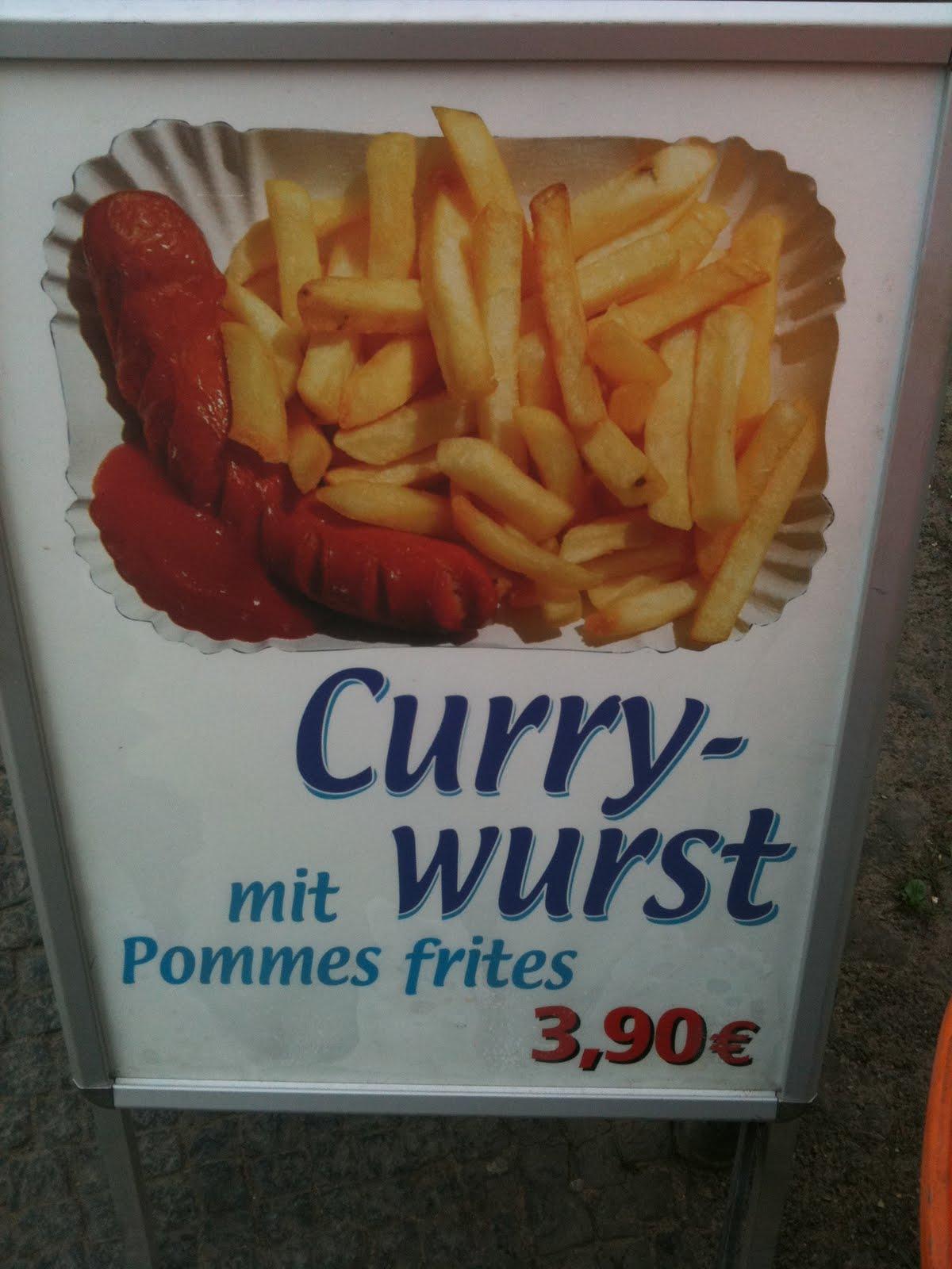 La fameuse lecker lecker Curry Wurst !