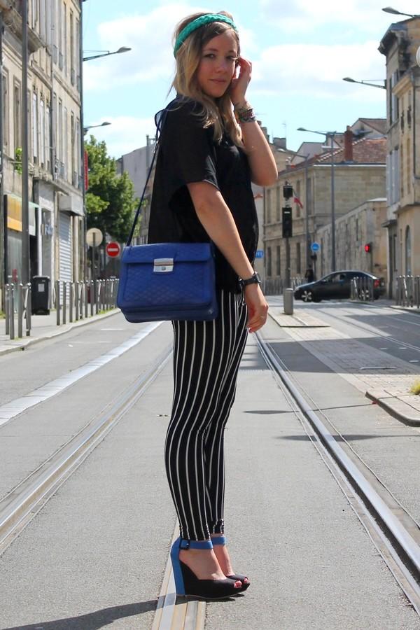 Pantalon Legging rayé