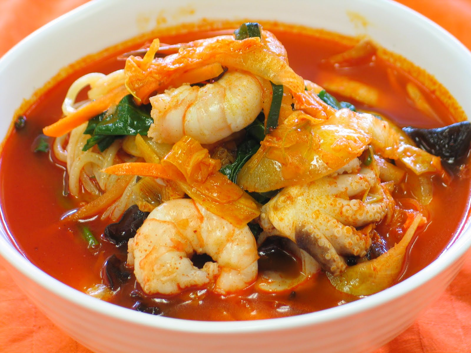 Asian seafood soup recipe