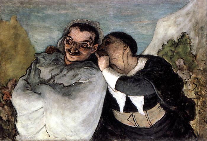 imagen Crispin y Scapin de Daumier