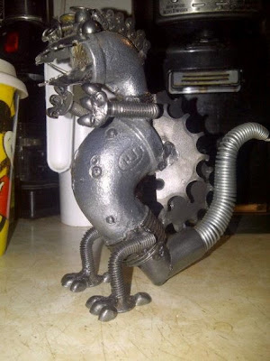 scrap metal dinosaur - or dragon