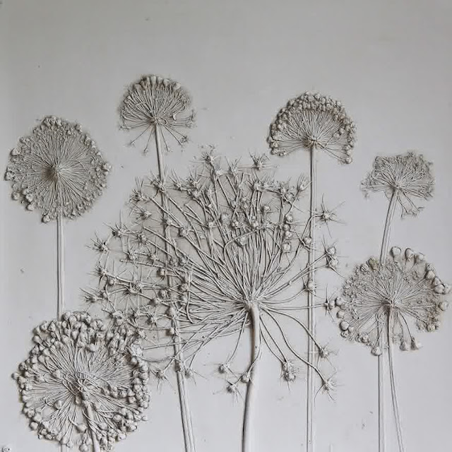 Flower fossil artwork