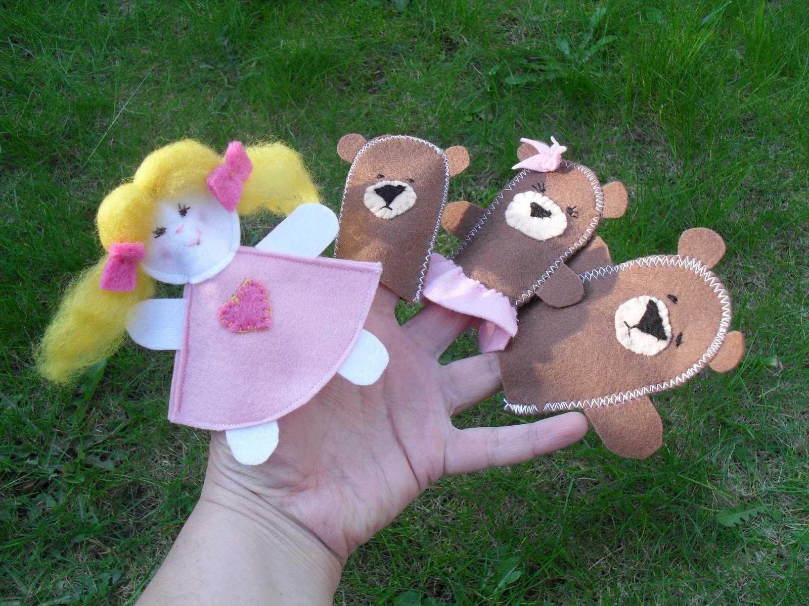 Custom Golf headcovers and puppets : Felt Finger puppets -my new ...