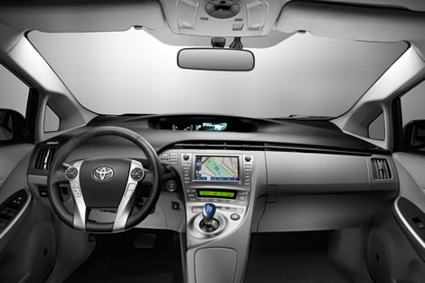 Wide interior view of 2012 Toyota Prius