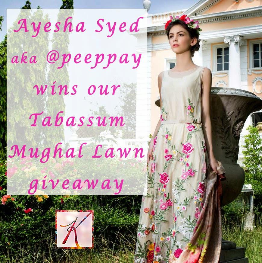 Ayesha Syed wins Tabassum Mughal designer lawn