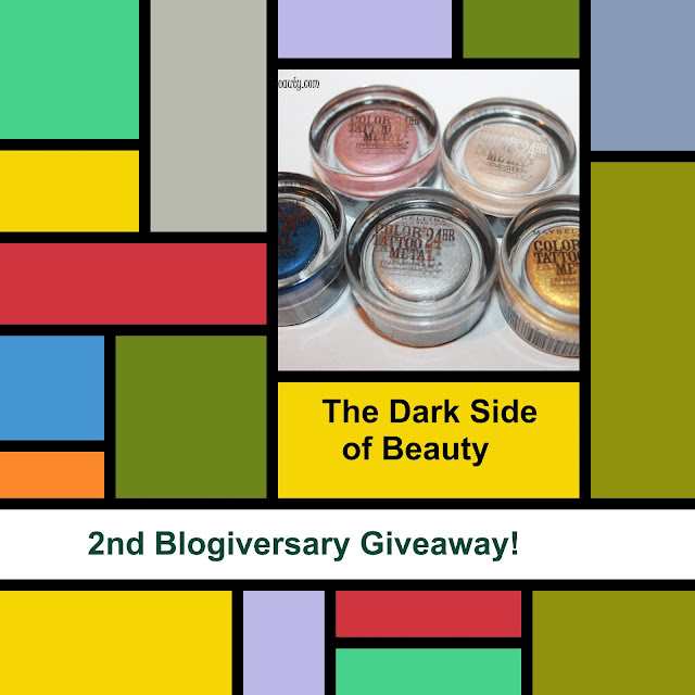 The Dark side of Beauty 2nd Aniversary Giveaway. until February 19. International