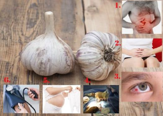 Garlic and its effects on various health situations